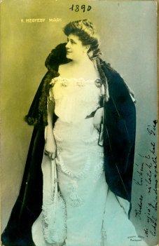 portrét herečky, Mária Hegyesi