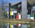 Heidi Weber Museum Centre Le Corbusier reflected