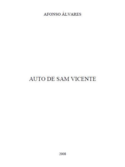 Auto de Sam Vicente: [transcrição]