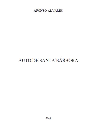 Auto de Santa Bárbora: [transcrição]