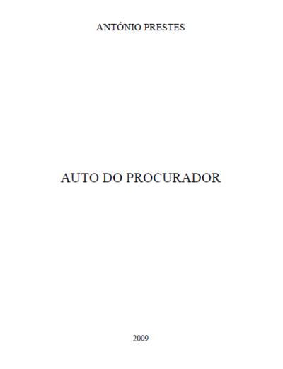 Auto do Procurador: [transcrição]
