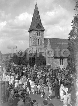 May-Day at Hayes Church, Kent. 1934