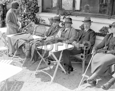 At Aix-Les-Bains Mr Bonar Law with Mr and Mrs Rudyard Kipling. 31 October 1923