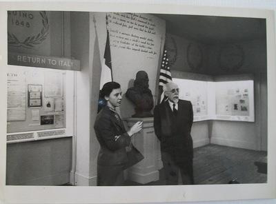 Maria Pia Ravello presso la Casa Museo Meucci-Garibaldi