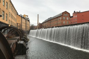 Waterfall in central Norrköping (1)