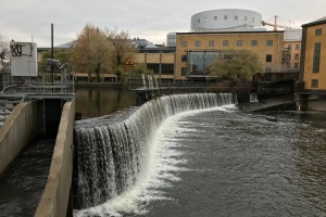 Waterfall in central Norrköping (3)