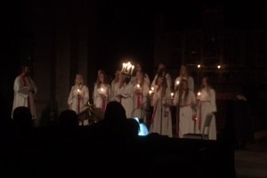 Lucia celebration and coronation at Vadstena church (1)
