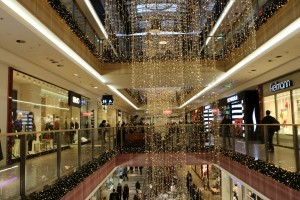 Shopping mall in Krakow in Christmas time