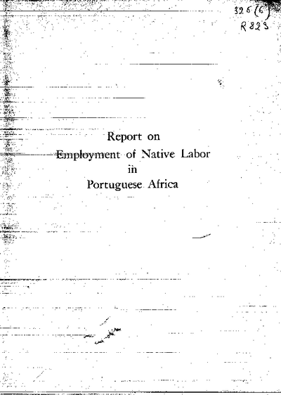 Report on Employment of Native Labor in Portuguese Africa