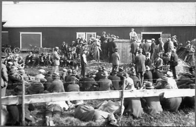 Informationsdag för bönder i Memoisby, Vörå.