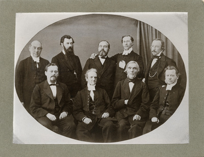 Finska psalmbokskommittens sammanträde i Åbo 1868,  ...