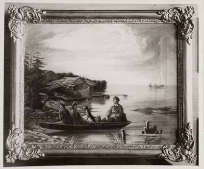 Fotografi av oljemålning av Johan Knutson.