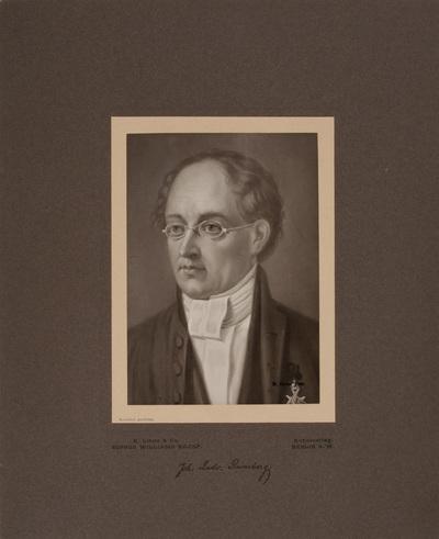 Johan Ludvig Runeberg med hans namnteckning.