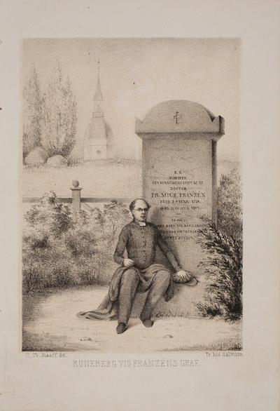 Johan Ludvig Runeberg vid Franzéns grav.