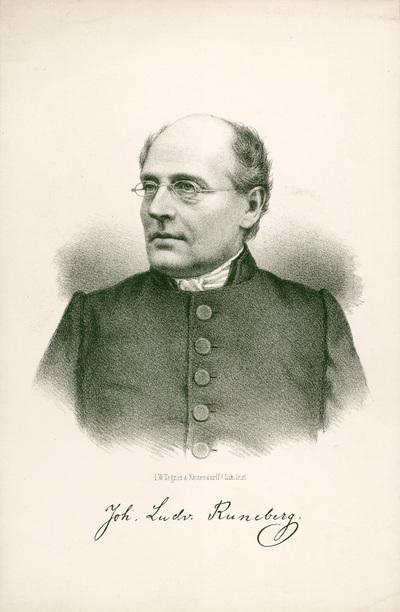 Johan Ludvig Runeberg, litografi av Tegner.