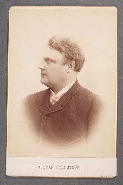 Gustaf Holmström (1855-d), tenorsångare.