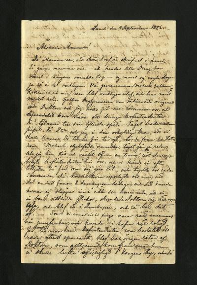 Lund den 4 September 1872.