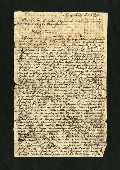 Gripsholm d. 26 Sept.