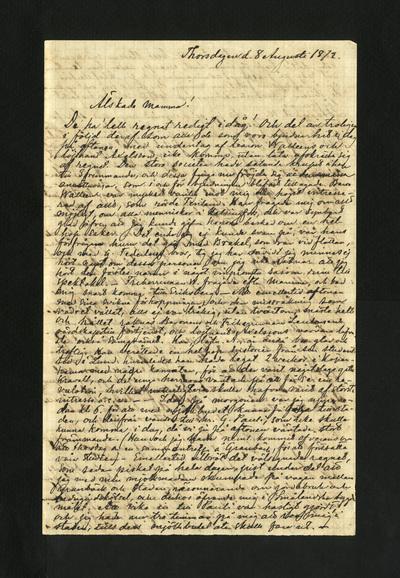 Thorsdagen d. 8 Augusti 1872.