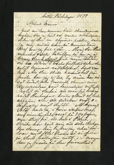 Antw. Påskdagen 1874