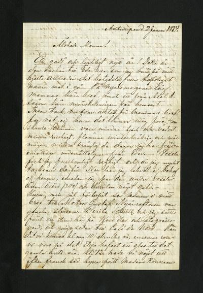 Antwerpen d 2 Januari 1874.