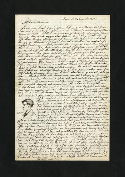 Paris d. 4 Augusti 1874.