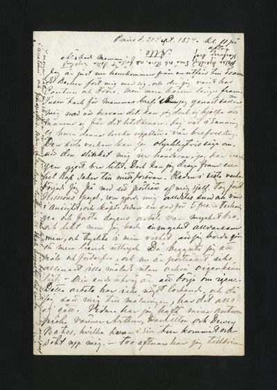 Paris d. 20 Sept. 1874 kl. 11 på afton