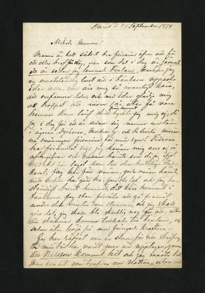 Paris d. 24 September 1874