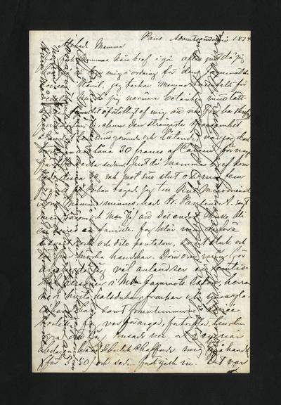 Paris. Adventssöndagen 1874.