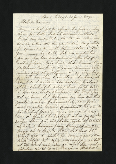 Paris, tisdag d. 22 Juni 1875