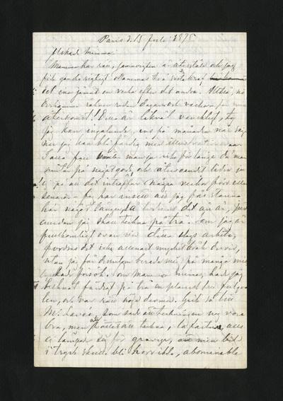 Paris d. 15 Juli 1875.