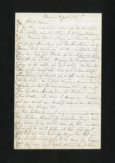 Paris d. 22 Juli 1875.