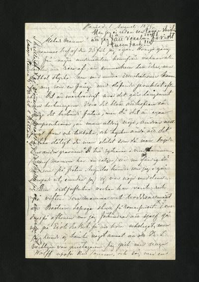 Paris d. 1 Augusti 1875