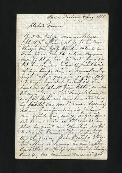 Paris, Onsdag d. 4 Aug. 1875