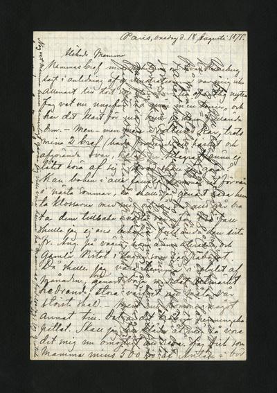 Paris, onsdag d. 18 Augusti 1875.