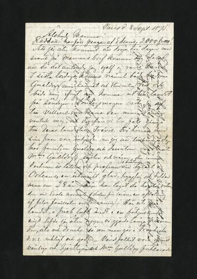 Paris d. 8 Sept. 1875.