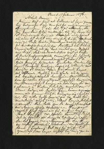 Paris d. 17 Februari 1875.