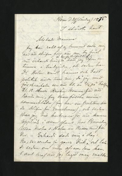 Rom d. 21/5 (söndag) 1876
