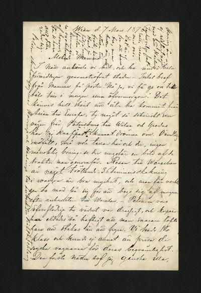 Wien d. 7 Mars 1876
