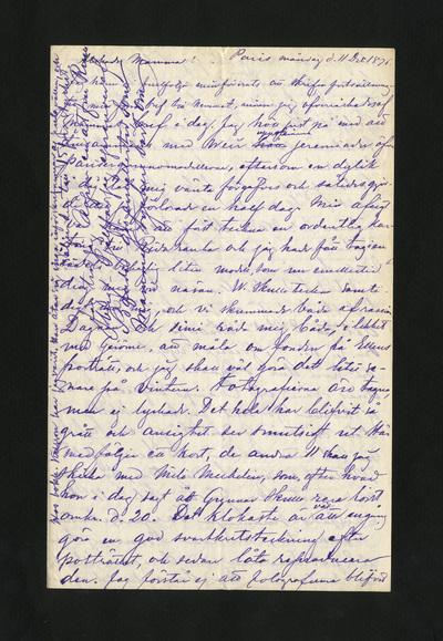 Paris måndag d. 11 Dec 1876.