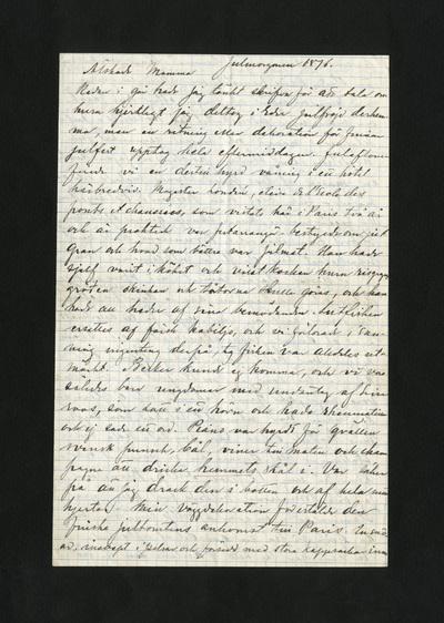Julmorgonen 1876.