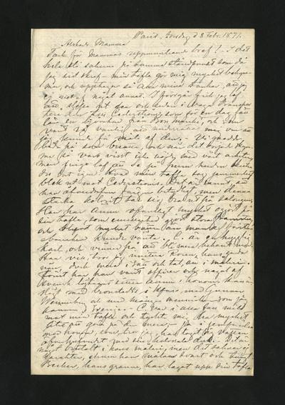Paris, torsdag d. 8 Febr. 1877.