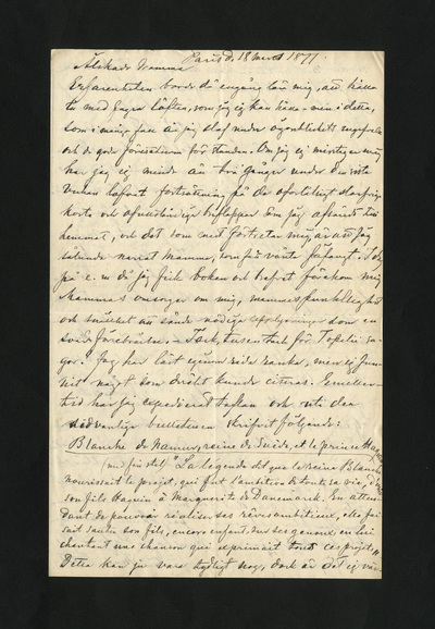 Paris d. 18 mars 1877.