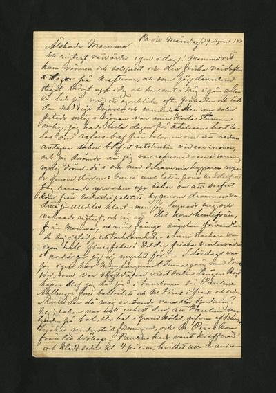 Paris måndag d 9 April 1877
