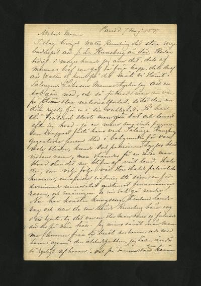 Paris d. 7 maj 1877