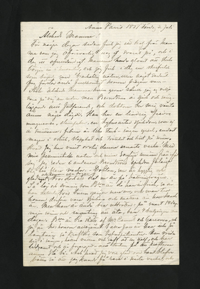 Ännu Paris 1877 lördag d Juli