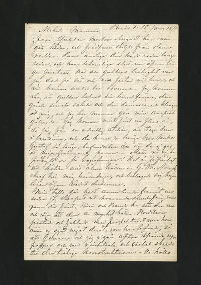 Paris d. 18 Jan. 1877