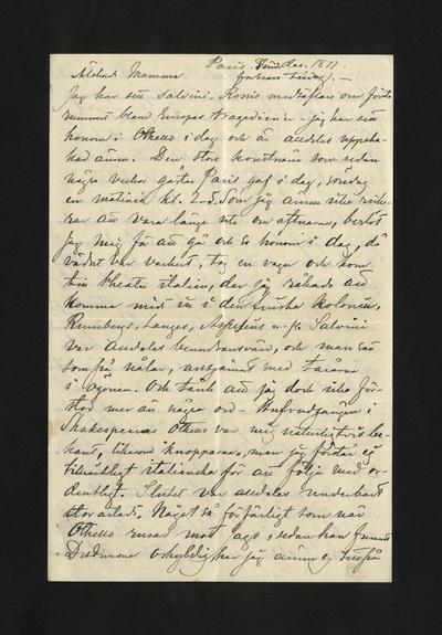 Paris, sönd. Dec. 1877 – fortsatt tisdag. –
