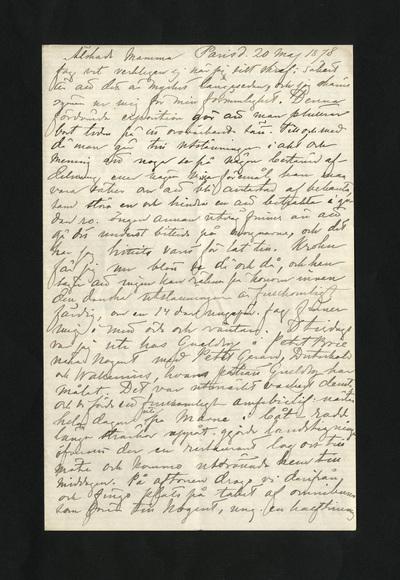 Paris d. 20 maj 1878