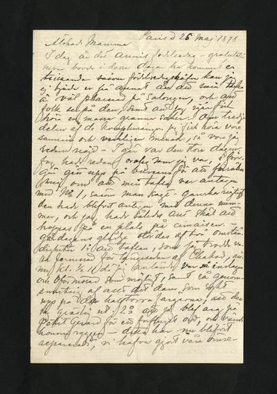 Paris d 25 maj 1878